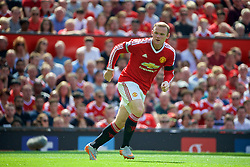 MANCHESTER, ENGLAND - Saturday, August 8, 2015: Manchester United's captain Wayne Rooney in action against Tottenham Hotspur during the Premier League match at Old Trafford. (Pic by David Rawcliffe/Propaganda)