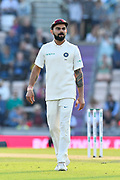 Virat Kohli (captain) of India during day two of the fourth SpecSavers International Test Match 2018 match between England and India at the Ageas Bowl, Southampton, United Kingdom on 31 August 2018.