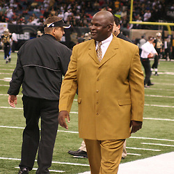 13 January 2007: Former New Orleans Saints linebacker Rickey Jackson walks the sideline prior to a 27-24 win by the New Orleans Saints over the Philadelphia Eagles in the NFC Divisional round playoff game at the Louisiana Superdome in New Orleans, LA. The win advanced the New Orleans Saints to the NFC Championship game for the first time in the franchise's history.