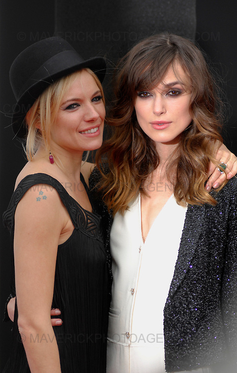 Keira Knightley and Sienna Miller attend 'The Edge of Love' film premier at Cineworld, Fountain Park, Edinburgh - 18th June 2008.  The film paints an extraordinary portrait of Dylan Thomas (played by Matthew Rhys) and the women is his life Caitlin MacNamara (Sienna Miller) and Vera Phillips (Keira Knightley).  Four lives are thrust together with heart breaking results in an intimate tale of sex and betrayal in war-torn Britain.