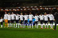 Picture by David Horn/Focus Images Ltd +44 7545 970036<br /> 14/11/2013<br /> Englanf U21 team before the European U21 Championship match at stadium:mk, Milton Keynes.