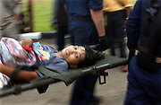 Banda Aceh, Indonesia<br />Following the devestating Tsunami, Indonesia comes to terms with the scale of destruction.<br />US helicopters from the USS Abraham Lincoln fly aid and ferry back the wounded from remote villages devastated by the Tsunami