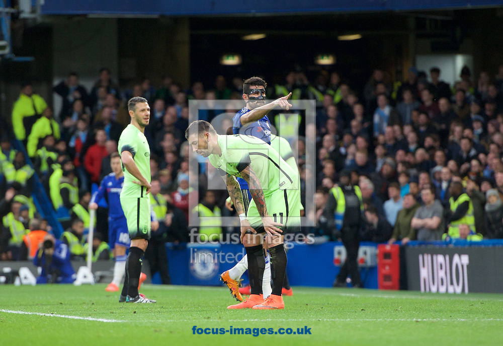 Diego Costa (19) of Chelsea celebrates after scoring the opening goal during the FA Cup match at Stamford Bridge, London<br /> Picture by Alan Stanford/Focus Images Ltd +44 7915 056117<br /> 21/02/2016