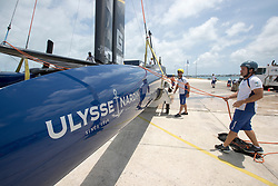 Artemis Racing getting ready for a light wind practice day on 1st of June, 2017, Bermuda