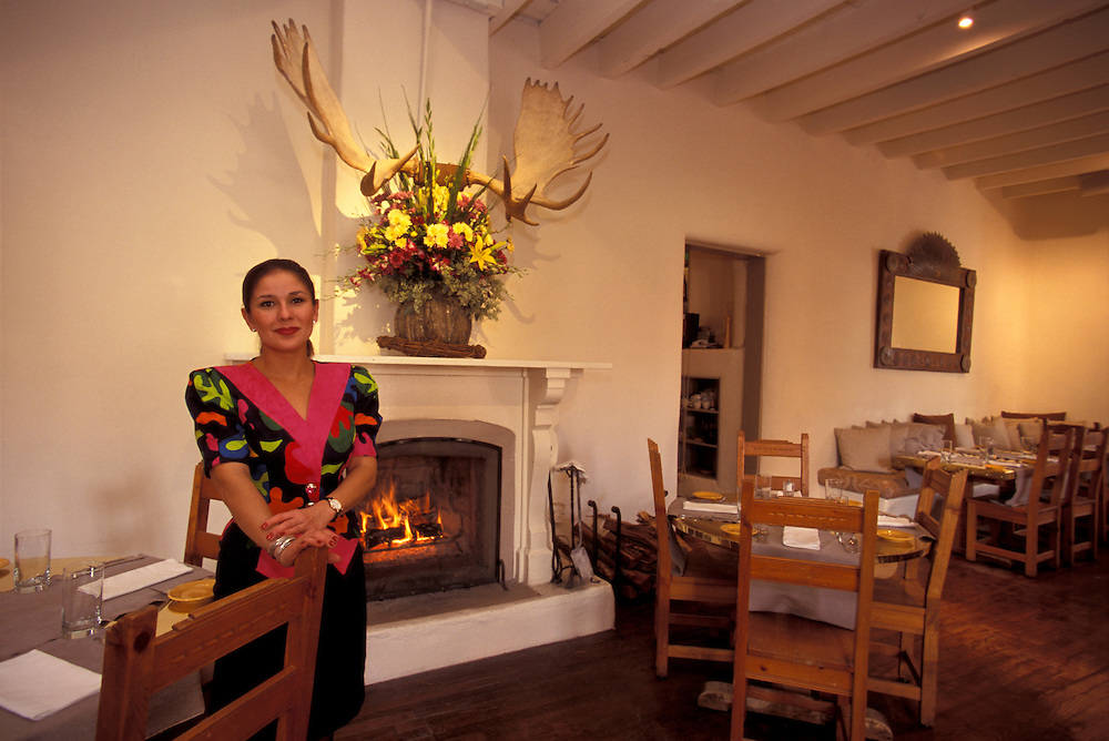 Geronimo Restaurant at Rafael Borrego Historic House, Canyon Road, Santa Fe,  New Mexico, USA