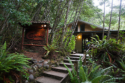 The Cavern House, near the entrance to the Te Anau glow worm caves, Lake Te Anau, South Island, New Zealand