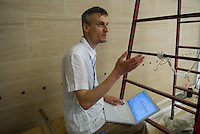 Alexander Tuchacek of Knowbotic Resarch. Synthetic Times exhibition at NAMOC, Beijing, China.