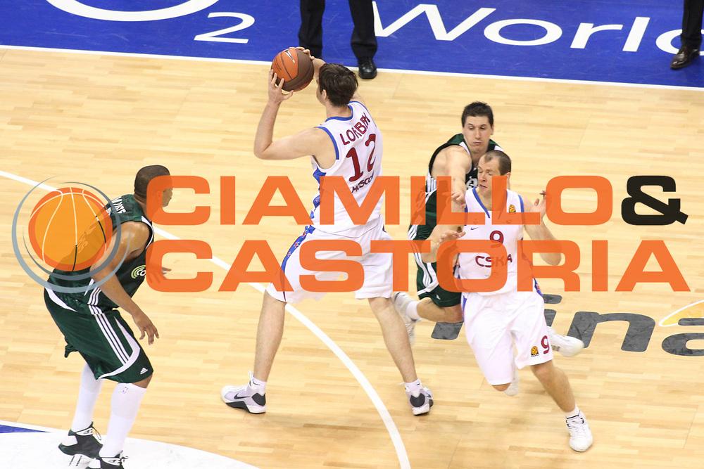 DESCRIZIONE : Berlino Eurolega 2008-09 Final Four Finale Panathinaikos Atene CSKA Mosca <br /> GIOCATORE : Erazem Lorbek <br /> SQUADRA : CSKA Mosca<br /> EVENTO : Eurolega 2008-2009 <br /> GARA : Panathinaikos Atene CSKA Mosca <br /> DATA : 03/05/2009 <br /> CATEGORIA : blocco<br /> SPORT : Pallacanestro <br /> AUTORE : Agenzia Ciamillo-Castoria/G.Ciamillo
