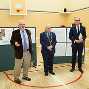24.04.2017.       <br /> Minister for Housing Simon Coveney visiting the Moyross Community Centre, Limerick announcing funding of &euro;3 million for a refurbishment of the centre​. <br /> <br /> Pictured at the event were, Tony Lynch, Chairperson Moyross Community Centre, Cllr. Kieran O'Hanlon, Mayor Limerick City and County and Minister for Housing Simon Coveney. Picture: Alan Place.