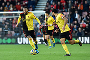 Etienne Capoue (29) of Watford on the attack during the Premier League match between Bournemouth and Watford at the Vitality Stadium, Bournemouth, England on 12 January 2020.