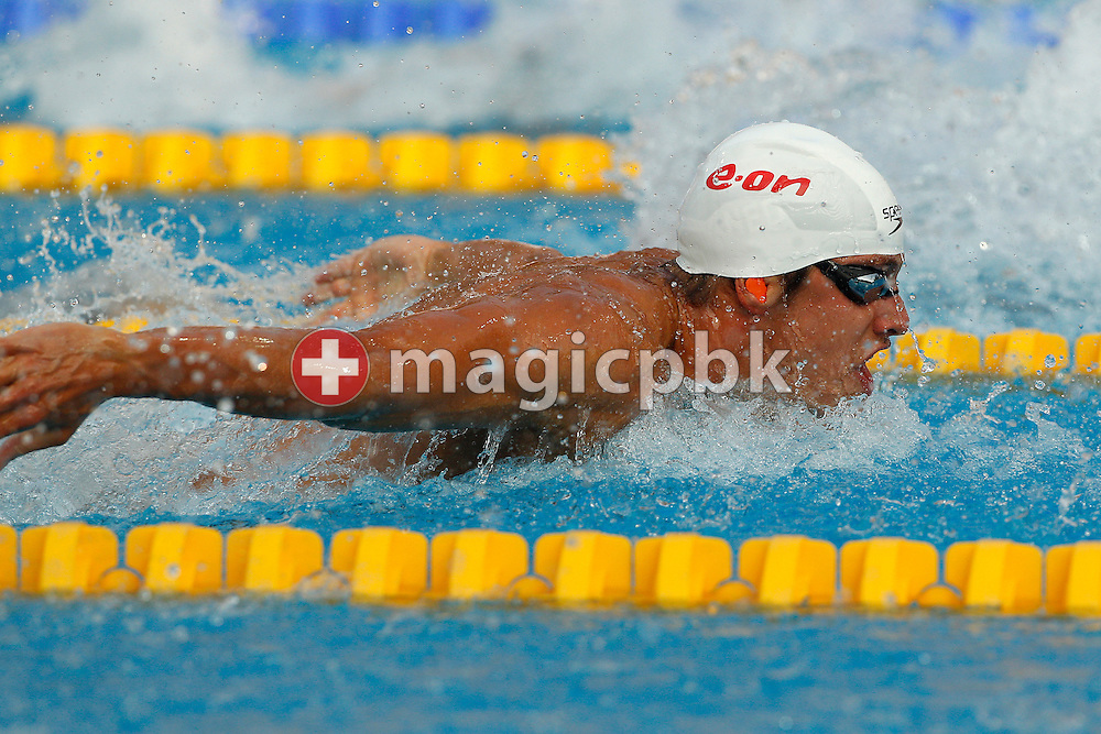 Joeri VERLINDEN of the Netherlands competes in the men's 100m Butterfly Semifinal 2 at the European Swimming Championship at the Hajos Alfred Swimming complex in Budapest, Hungary, Friday, Aug. 13, 2010. (Photo by Patrick B. Kraemer / MAGICPBK)