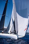 Cannonball sailing in a practice race at the Corfu Challenge.