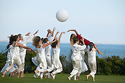 "Newport, RI  Sept 2004 - Dancers from the local community perform a piece as part of ""Open for Dancing"" using the earthworks sculpture ""The Sod Maze"" as the location on Bellevue Avenue Newport, RI"