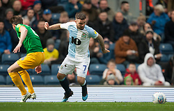 Adam Armstrong of Blackburn Rovers in action - Mandatory by-line: Jack Phillips/JMP - 09/03/2019 - FOOTBALL - Ewood Park - Blackburn, England - Blackburn Rovers v Preston North End - English Football League Championship