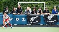 BREDA (Neth.)  NZ supporters during the match  New Zealand vs England U21 women . Volvo Invitational Tournament U21. COPYRIGHT KOEN SUYK