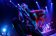 TREVOR HAGAN - Ben Kowalewicz, lead singer of Billy Talent, performs at MTS Centre.<br /> March 20, 2010