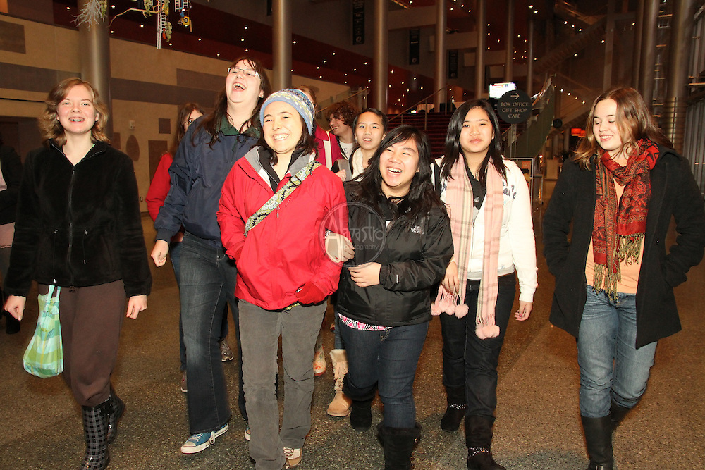 """Olympia High School students attending Seattle Opera's Experience Opera during the production of """"Barber of Seville"""""""