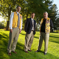 Park Nicollet Health Services location portrait of Diabetes Doctor and two Lions Club members.