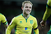 Norwich City forward Alex Pritchard celebrates after scoring the fifth goal during the EFL Sky Bet Championship match between Norwich City and Brentford at Carrow Road, Norwich, England on 3 December 2016. Photo by Nigel Cole.