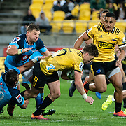 Action during the super rugby union Quarter Final game played between Hurricanes  v Bulls  played at  Westpac Stadium , Wellington, New Zealand, on 22 June 2019.   Final score 35-28 to the Hurricanes