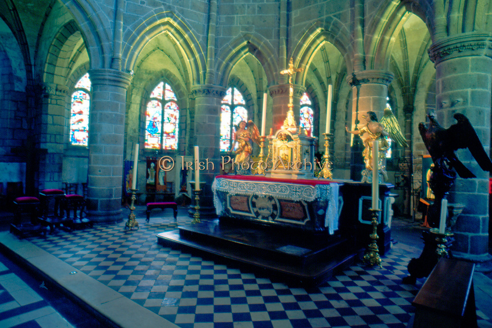 France, Normandy.  Granville Int.  Eglise Notre-Dame.