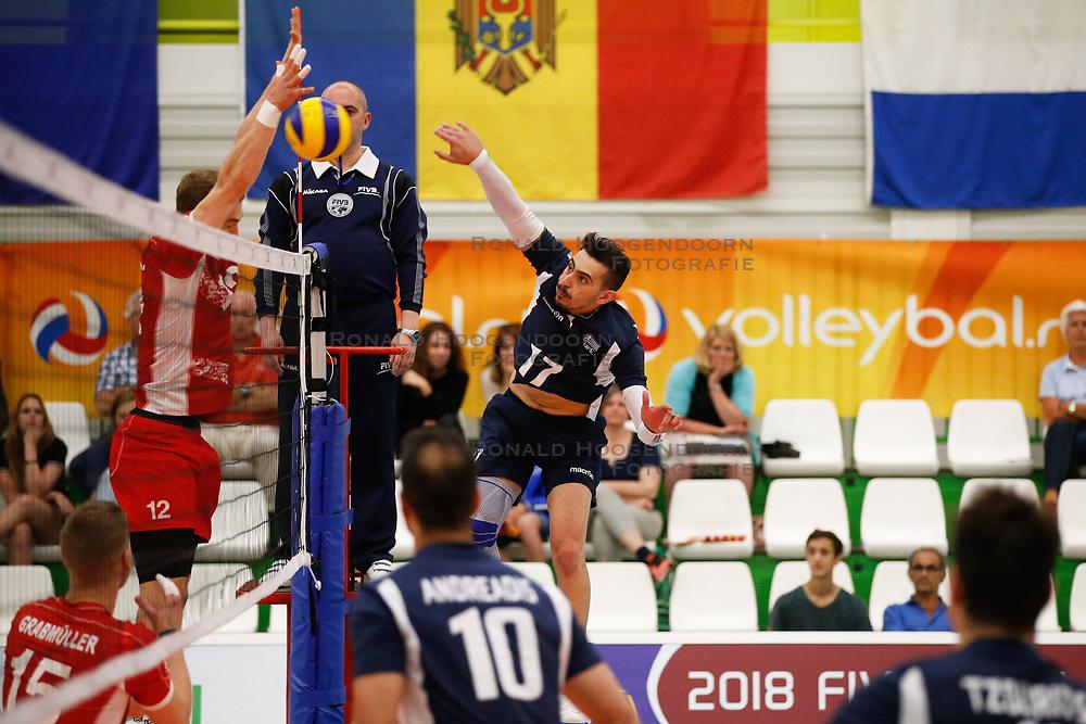 20170524 NED: 2018 FIVB Volleyball World Championship qualification, Koog aan de Zaan<br />Athanasios Protopsaltis (17) of Greece <br />©2017-FotoHoogendoorn.nl / Pim Waslander