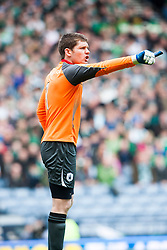Falkirk's keeper Michael McGovern..Hibernian 4 v 3 Falkirk, William Hill Scottish Cup Semi Final, Hampden Park...