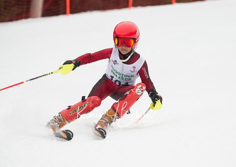 Paul Ladouceur Slalom U12 first run with Gunstock Ski Club.  <br /> &copy;2017 Karen Bobotas Photographer
