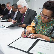 04 June 2015 - Belgium - Brussels - European Development Days - EDD - Signing Ceremony,  Regional Indicative Programme for Eastern Africa , Southern Africa and the Indian Ocean - Dr Stergomena Lawrence Tax, Executive Secretary of the Southern African Development (SADC) © European Union