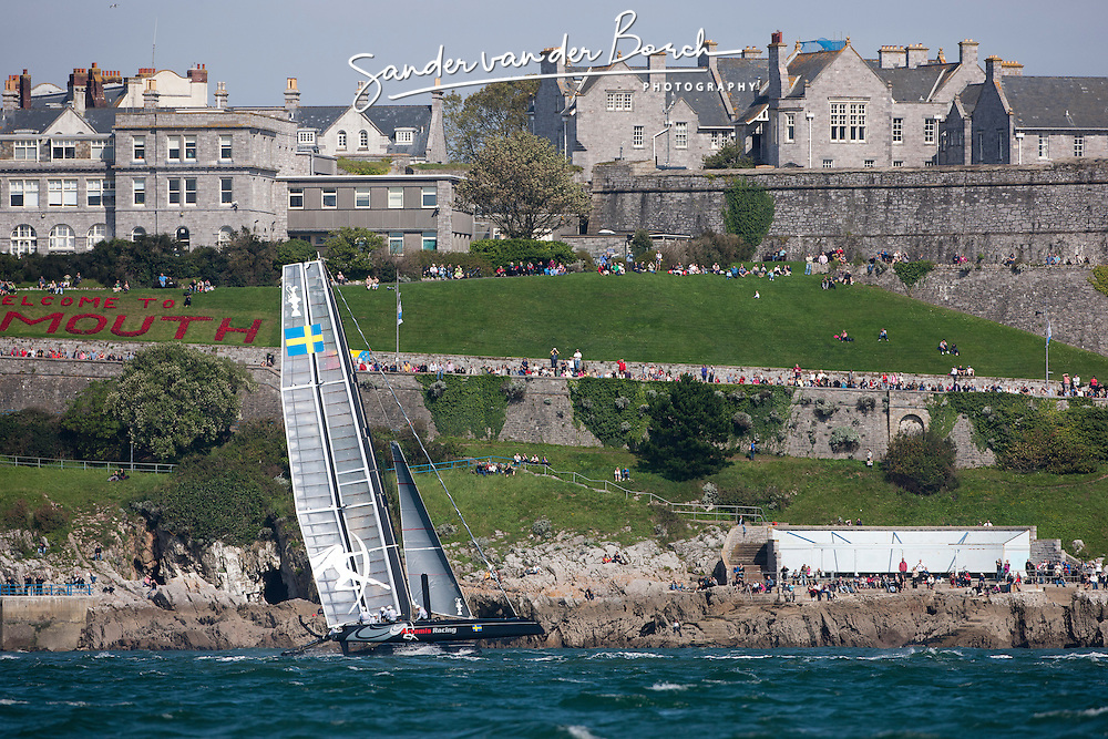 September 11th 2011, AC45 World Series Plymouth. Second day of Racing.