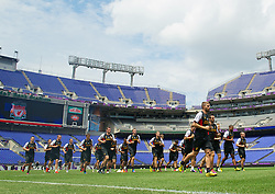 BALTIMORE, MD - Friday, July 27, 2012: Liverpool's new signing Fabio Borini during a training session ahead of the pre-season friendly match against Tottenham Hotspur at the M&T Bank Stadium. (Pic by David Rawcliffe/Propaganda)