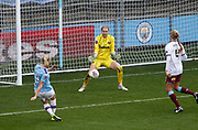 Manchester City Women's forward Pauline Bremer (9) shoots on goal during the FA Women's Super League match between Manchester City Women and West Ham United Women at the Sport City Academy Stadium, Manchester, United Kingdom on 17 November 2019.