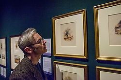 Pictured: Scottish National Galleries' Michael Gormley checks out Locheil's Warning by Turner<br /> The annual exhibition of the collection of Turner watercolours bequeathed in 1900 by Henry Vaughan was in the finalstages of preparation today.  The exhibition runs at the Scottish National Gallery from January 1 to 30<br /> <br /> <br /> Ger Harley | EEm 21 December 2017