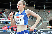 Laura Muir (GBR) wins the women's 1,500m in 4:05.37 during the Bauhaus-Galan in a IAAF Diamond League meet at Stockholm Stadium in Stockholm, Sweden on Thursday, May 30, 2019. (Jiro Mochizuki/Image of Sport)