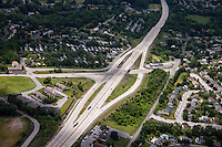 Aerial image of the Lisburn Road Interchange in Cumberland County PA