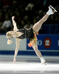 London, Ontario ---10-01-17--- Joannie Rochette skates his gala performance at the 2010 BMO Canadian Figure Skating Championships in London, Ontario, January 18, 2010. .GEOFF ROBINS/Mundo Sport Images.