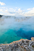 Sapphire Pool in the Biscuit Basin in Yellowstone National Park.