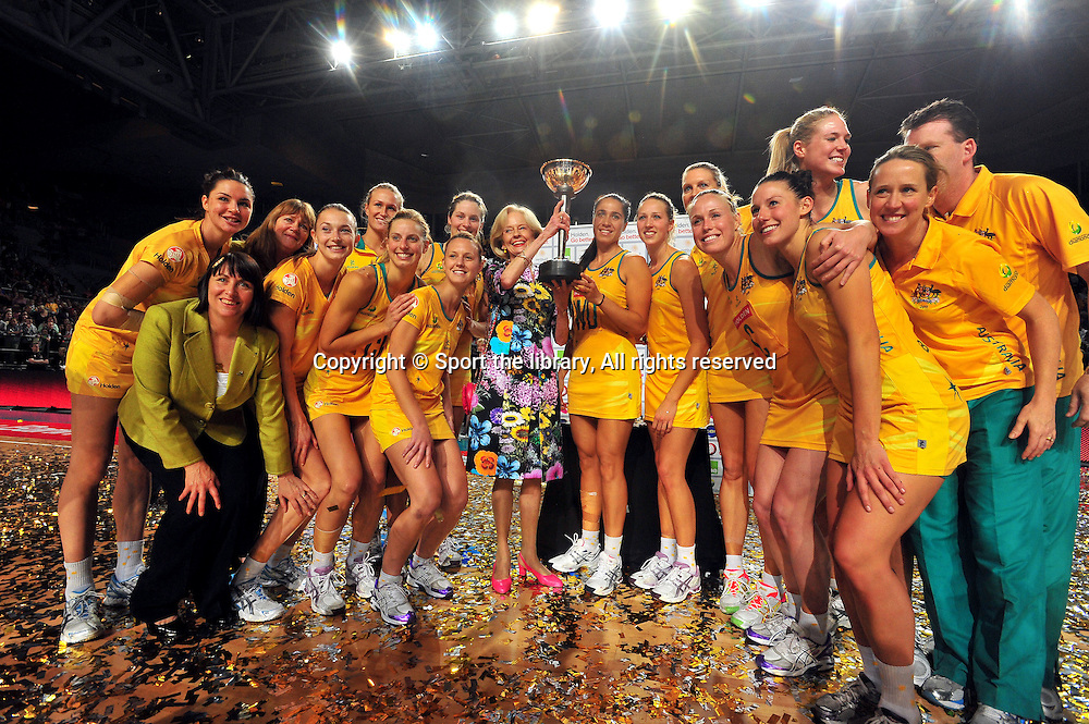 Erin Bell (AUS)<br /> 2011 Holden Netball Test Series<br /> Australia vs New Zealand <br />  Sunday 30 October 2011<br /> Hisense Arena/ Melbourne Australia <br /> &copy; Sport the library / Jeff Crow