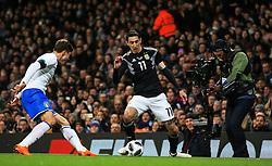 Angel di Maria of Argentina - Mandatory by-line: Matt McNulty/JMP - 23/03/2018 - FOOTBALL - Etihad Stadium - Manchester, England - Argentina v Italy - International Friendly