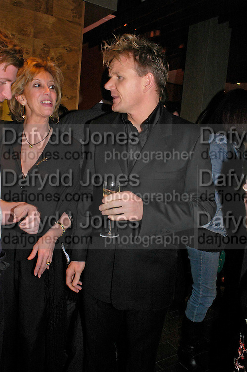 Baroness Marie-Clare von Alvenslebben and Gordon Ramsay . Pengelley's opening. 164 Sloane St. London SW1. 22 February 2005. . ONE TIME USE ONLY - DO NOT ARCHIVE  © Copyright Photograph by Dafydd Jones 66 Stockwell Park Rd. London SW9 0DA Tel 020 7733 0108 www.dafjones.com