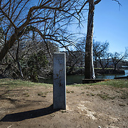 WASHINGTON, DC - MAR23: The zero mile marker symbolizes the start of the Chesapeake and Ohio (C&O) Canal in Georgetown, Washington, DC. Developers are hoping to utilize the green spaces along the path and upgrade the the one mile stretch of the C&O Canal that runs through Georgetown to create a destination experience like the Highline in New York City. (Photo by Evelyn Hockstein/For The Washington Post)