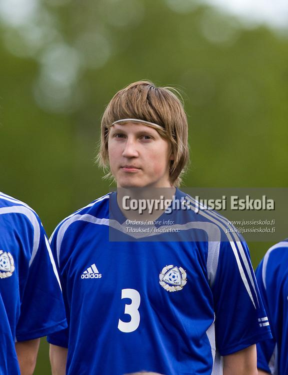 Joni Kauko. Suomi - Puola, alle 18-vuotiaiden maaottelu, U18. Salo 27.5.2008. Photo: Jussi Eskola