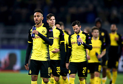 Borussia Dortmund's Pierre-Emerick Aubameyang appears dejected after the final whistle