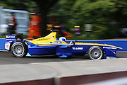 Renault E.Dams driver, Nico Prost going round corner during round 10, Formula E, Battersea Park, London, United Kingdom on 3 July 2016. Photo by Matthew Redman.