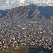 View of Kabul from the top of TV mountain.