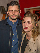 Laura Carmichael came to see Michael Fox who plays Frankie (both pictured) - Press night party for A Lie of the Mind by Sam Shepard a new production by Defibrillator at the Southwark Playhouse, London.