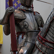 Armor Horse and Rider.<br /> <br /> The Arms and Armor Gallery in The Metropolitan Museum of Art (MET)<br /> <br /> Steel armor etched and partly gilt leather. Italian(probably Milan)about 1560-75, used in battlefield and tournaments.