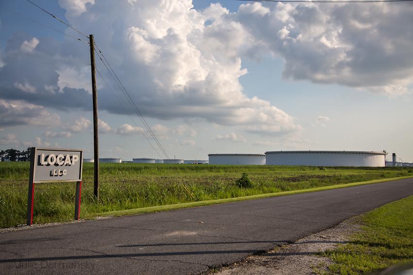 LOCAP oil storage tanks in St. James Parrish Lousiana.