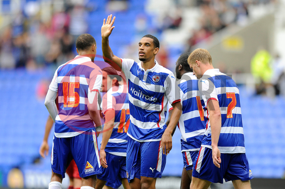 Readings' Nick Blackman celebrates his goal - Photo mandatory by-line: Dougie Allward/JMP - Mobile: 07966 386802 02/08/2014 - SPORT - FOOTBALL - Reading - Madejski Stadium - Reading v Swansea - Pre-Season Friendly