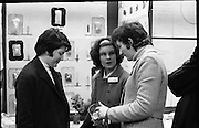 Aer Lingus Young Scientist of the Year..1971..08.01.1971..01.08.1971..8th January 1971..The annual Aer Lingus Young Scientist of the year was held in The R.D.S.Dublin.Once again, this year,there was an outstanding display of projects by school children from around the country,many of which,it is hoped,will have applications into the future. The main speaker at the event was Mr Patrick Faulkner TD, Minister for Education..Photograph of three pupils from Loreto Convent ,Youghal,Co Cork, who had projects in the exhibition. (L-R) Ms Joanne Shiel, Ms Agnes O'Brien, explaining her project on the study of dyes and Ms Helen Hegarty.